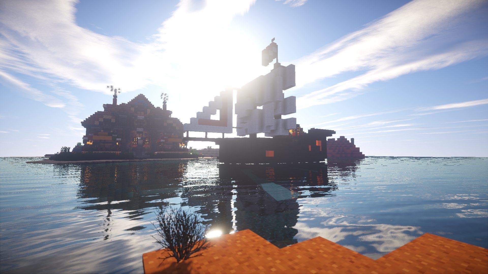 Minecraft sailing ship