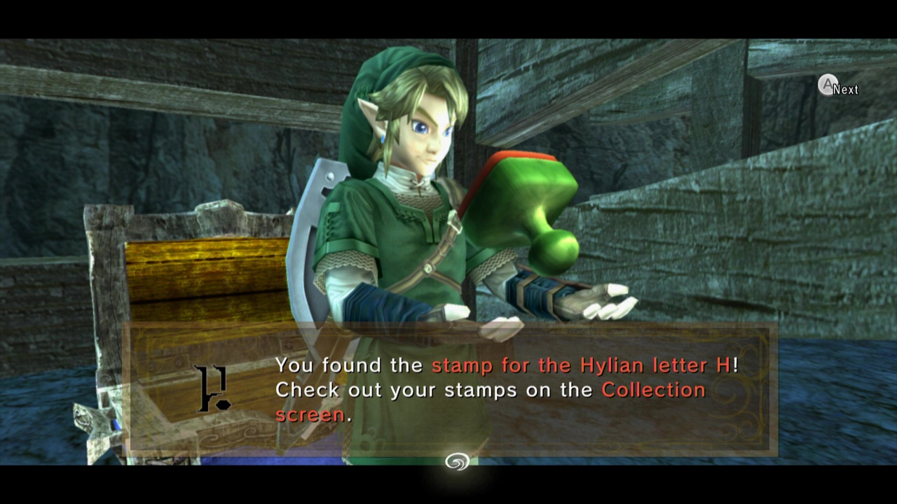 Finding a stamp in Twilight Princess HD