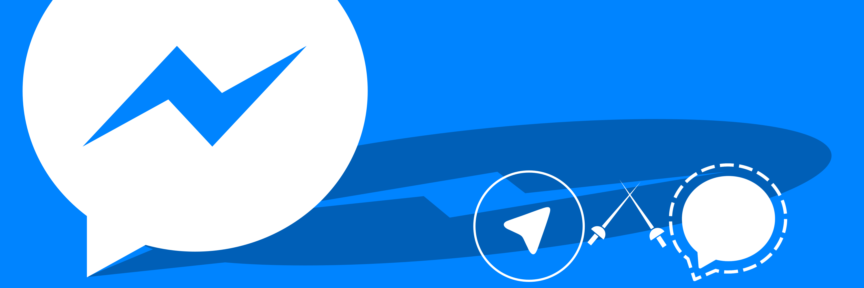 Messenger, Telegram and Signal having a fight
