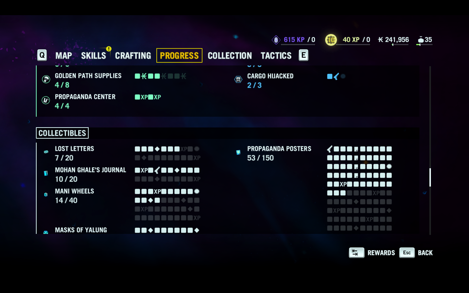 Far Cry 4 progress screen