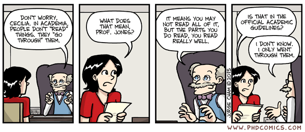 PhD Comics - Academics Don't Read