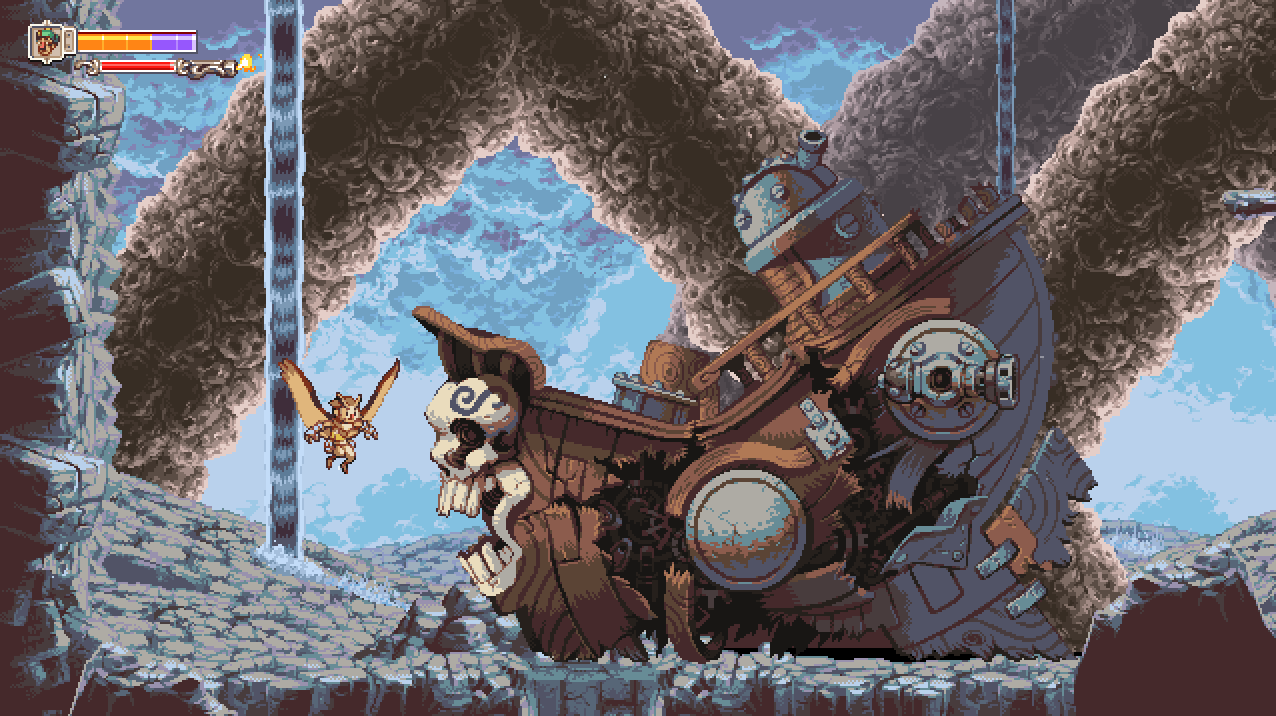 Otus and a pirate shipwreck
