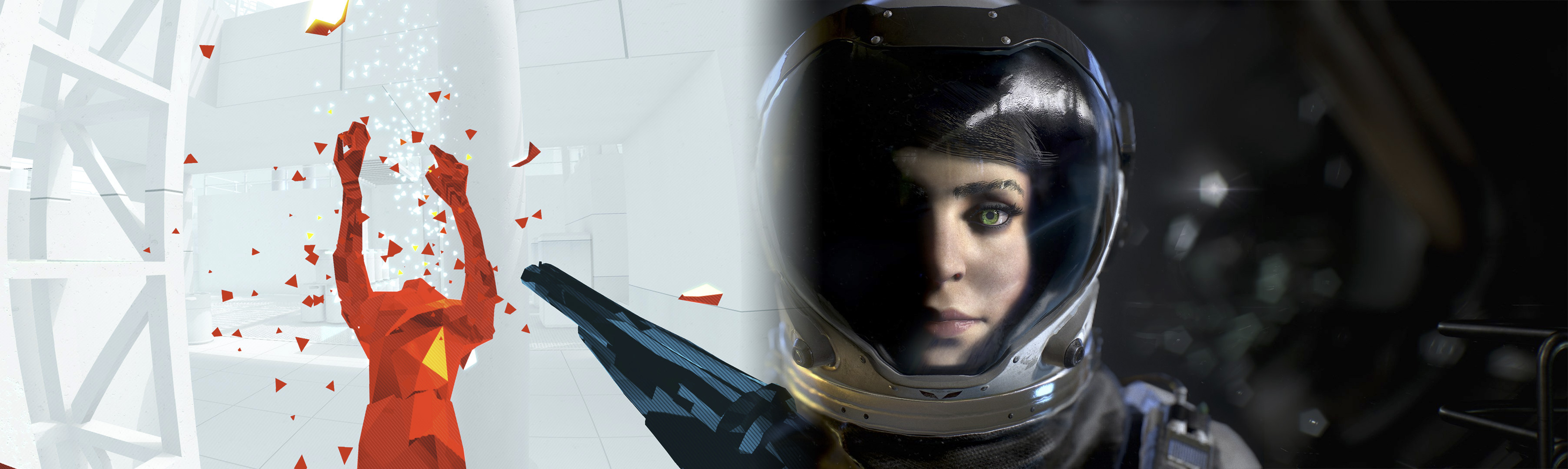 Superhot and The Turing Test banner