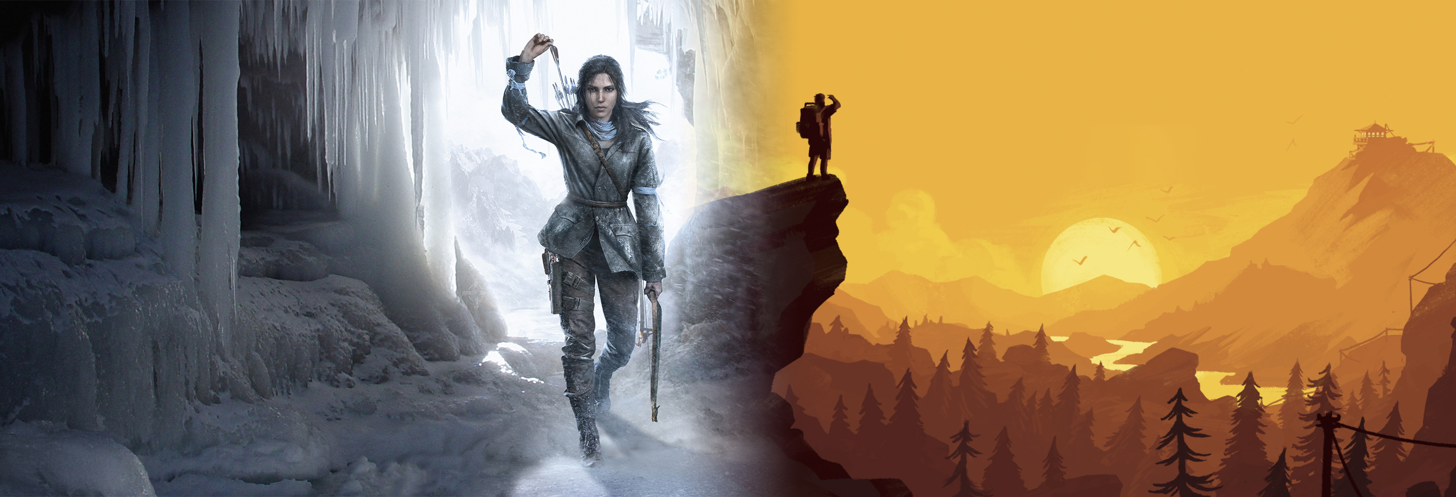 Rise of the Tomb Raider and Firewatch banner