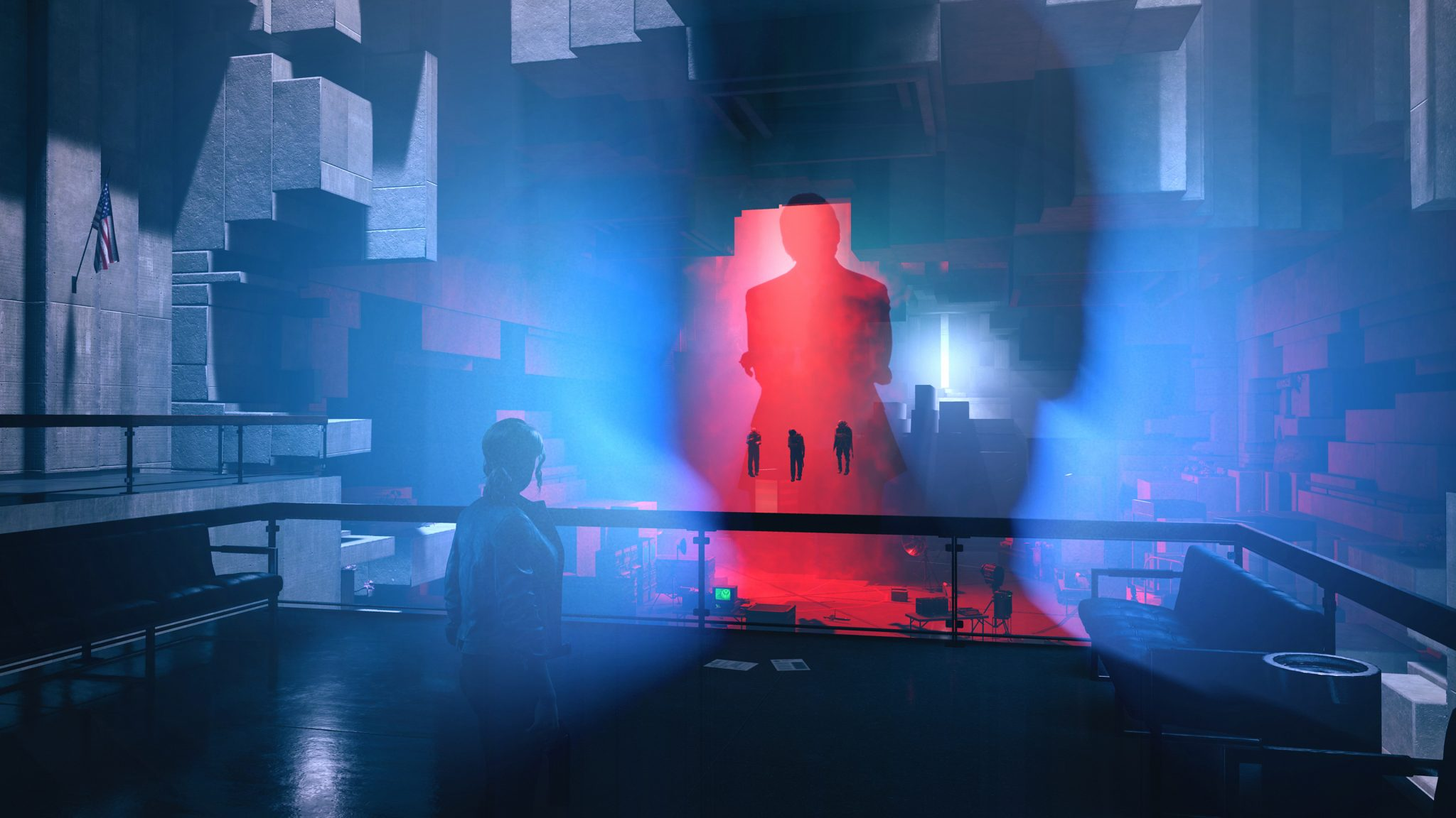 A scene with a humanoid presence